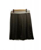 BOSS HUGO BOSS(ボス ヒューゴ ボス)の古着「タックギャザースカート」|オリーブ
