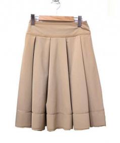 FOXEY NEWYORK(フォクシーニューヨーク)の古着「ミモレ丈スカート」|ベージュ