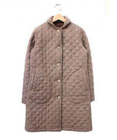 Traditional Weatherwear(トラディショナルウェザーウェア)の古着「ウールシェルキルティングコート」|ベージュ