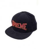 Supreme(シュプリーム)の古着「Dotted Arc 5-Panel cap」|ブラック