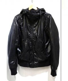 DIESEL(ディーゼル)の古着「フーデッドナイロンジャケット」|ブラック