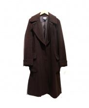 DKNY(ダナキャラン)の古着「ベルト付トッパーロングコート」