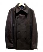 SHELLAC(シェラック)の古着「メルトンジッパージャケット」 オリーブ