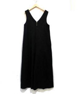 SLOBE IENA(スローブイエナ)の古着「ウォッシャブルオールインワン」|ブラック