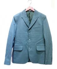 CARVEN(カルヴェン)の古着「ピークドラペル3Bジャケット」 グリーン