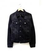 NUDIE JEANS(ヌーディジーンズ)の古着「デニムジャケット」 ブラック