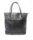 TRION(トリオン)の古着「レザーパッチワークトートバッグ」|ブラック