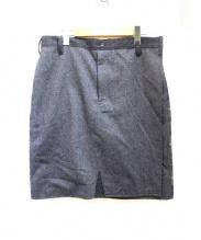 GANRYU(ガンリュウ)の古着「膝丈デザイン巻きスカート」|グレー×ブラック