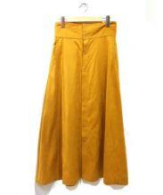 so1:1(ソウワンバイワン)の古着「コットンストレッチスウェードハイウエストスカート」|イエロー