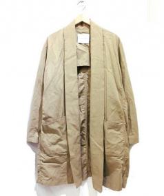 Adam et Rope(アダムエロペ)の古着「ピーチT/Rガウンコート」|ベージュ
