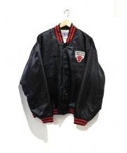 NBA(エヌビーエー)の古着「スタジアムジャンパー」|ブラック×レッド