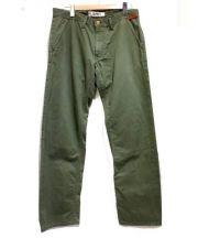 FDMTL(ファンダメンタル)の古着「コットンデザインパンツ」 グリーン