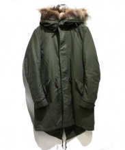 AMERICAN RAG CIE(アメリカンラグシー)の古着「ボアライナー付モッズコート」|カーキ×ベージュ
