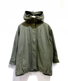 Traditional Weatherwear(トラディショナルウェザーウェア)の古着「ウールライナー付ドルマンミリタリージャケット」|グリーン