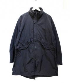 BEAMS(ビームス)の古着「レイズドネックモッズコート」|ブラック