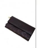 GUCCI(グッチ)の古着「レザー長財布」|ブラウン