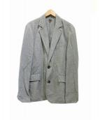 BOGLIOLI(ボリオリ)の古着「2Bチェックジャケット」 グリーン×ホワイト