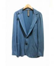 eleventy(イレブンティ)の古着「カットオフコットン2Bジャケット」|グリーン