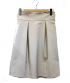 FOXEY NEWYORK(フォクシーニューヨーク)の古着「レディタキシードスカート」|ベージュ