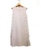 FOXEY(フォクシー)の古着「ノースリーブニットドレス」|ピンク