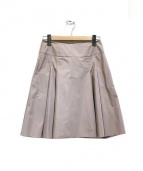 FOXEY NEWYORK(フォクシーニューヨーク)の古着「Out Pleat Skirt」 ベージュ
