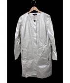 DUAL VIEW(デュアルビュ)の古着「箔コーティングコート」|アイボリー