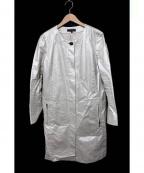 DUAL VIEW(デュアル ヴュー)の古着「箔コーティングコート」 アイボリー