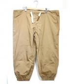 BEAMS BOY(ビームスボーイ)の古着「ディバイバークロストラベルパンツ」|ベージュ