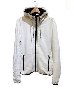 DIESEL(ディーゼル)の古着「シープスキンフーデッドレザージャケット」|ホワイト