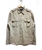 RRL(ダブルアールエル)の古着「ワークシャツ」 ベージュ