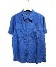 A.P.C(アーペーセー)の古着「リネン混インディゴシャツ」 インディゴ
