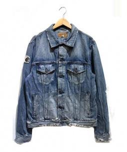 Denim & Supply Ralph Lauren(デニムアンドサプライ ラルフローレン)の古着「クラッシュ加工デニムジャケット」