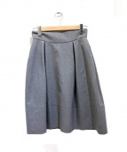 FOXEY NEWYORK(フォクシーニューヨーク)の古着「タキシードベルスカート」|グレー