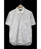 COMME des GARCONS HOMME(コムデギャルソンオム)の古着「半袖メッシュ切替デザインシャツ」|ホワイト
