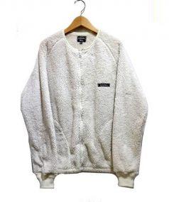CAPTAINS HELM(キャプテンズ ヘルム)の古着「ノーカラーボアジャケット」|ホワイト