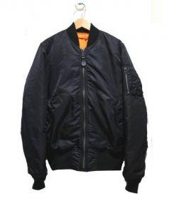 ALPHA(アルファ)の古着「リバーシブルMA-1ジャケット」|ブラック×オレンジ