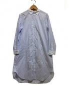 KUMIKYOKU(クミキョク)の古着「ハイカウントシャツワンピース」|ブルー×ホワイト