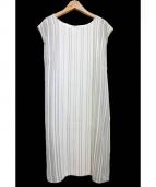 22 OCTOBRE(22オクトーブル)の古着「メイクアップストライプワンピース」|グレー×ホワイト