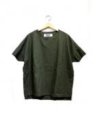 BASISBROEK(バーシスブルック)の古着「シルク混プルオーバーシャツ」 オリーブ