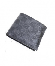 LOUIS VUITTON(ルイ・ヴィトン)の古着「2つ折り財布」 ブラック
