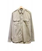 RRL(ダブルアールエル)の古着「ミリタリーシャツ」 ベージュ