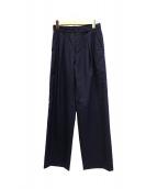 THE SHINZONE(ザ シンゾーン)の古着「TUCK WIDE PANTS」|ネイビー