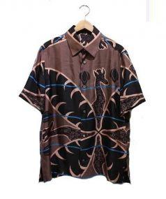 LOUIS VUITTON(ルイ・ヴィトン)の古着「シルク半袖シャツ」|ブラウン