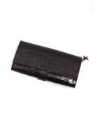 Felisi(フェリージ)の古着「クロコ型押し長財布」|ブラウン