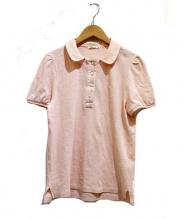 mina perhonen(ミナペルフォネン)の古着「マシュマロポロシャツ」|ピンク
