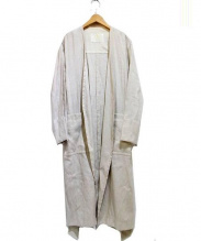 GRACE CLASS(グレースクラス)の古着「リネン混ガウンコート」 アイボリー