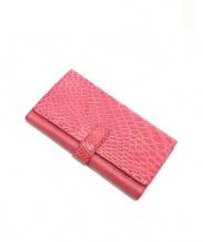 sanpo(サンポー)の古着「クロコ財布」 ピンク