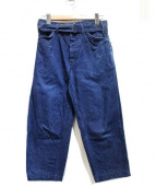 COMOLI(コモリ)の古着「BELTED DENIM PANTS」