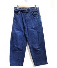 COMOLI(コモリ)の古着「BELTED DENIM PANTS」