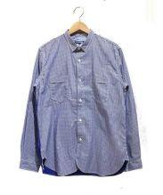 JUNYA WATANABE CdG MAN PINK(ジュンヤワタナベマンピンク)の古着「綿ツイルギンガムチェックシャツ」 ブルー×ホワイト